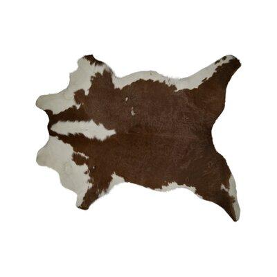 Hampton Hand-Woven Cowhide Brown/White Area Rug