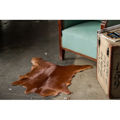 Hannah Hand-Woven Cowhide Brown Area Rug