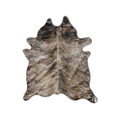 Benedict Calfskin Hand-Woven Cowhide Gray Area Rug