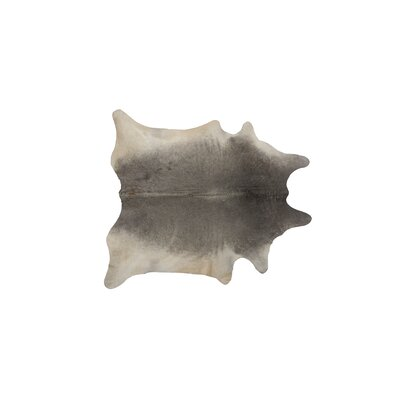 Plainsboro Hand-Woven Cowhide Gray Area Rug