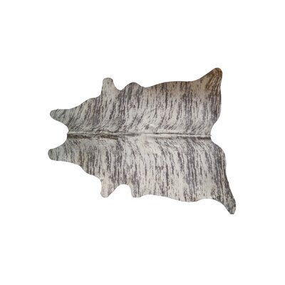 Abhinav Hand-Woven Cowhide New Light Brindle Area Rug