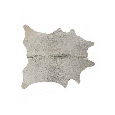 Abhinav Hand-Woven Cowhide Light Gray Area Rug