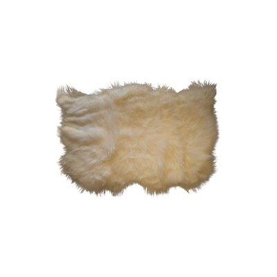 Creusot Hand-Woven Sheepskin Beige Area Rug