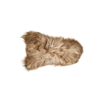 Cumberland Hand-Woven Sheepskin Brown Area Rug