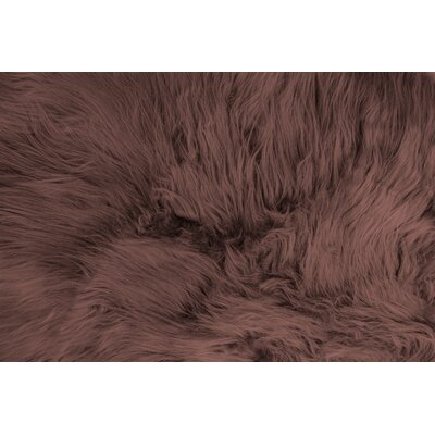Daemon Hand-Woven Sheepskin Chestnut Area Rug