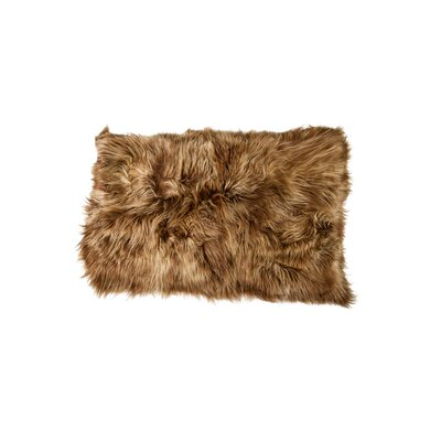 Dagon Hand-Woven Sheepskin Brown Area Rug
