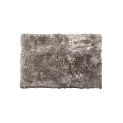 Romana Long-Haired Hand-Woven Sheepskin Taupe Area Rug