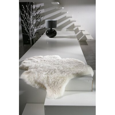 Dalaman Sheared Hand-Woven Sheepskin White Area Rug