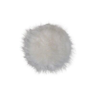 Sheepskin Dining Chair Cushion Fabric: White