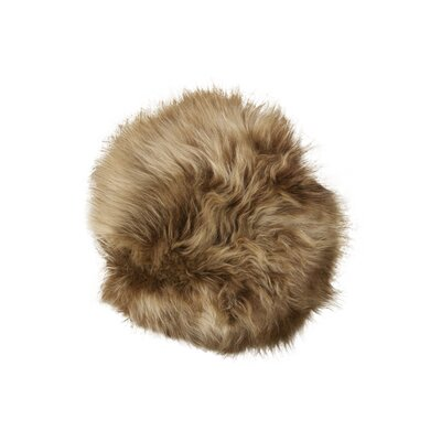 Sheepskin Dining Chair Cushion Fabric: Rusty Brisa