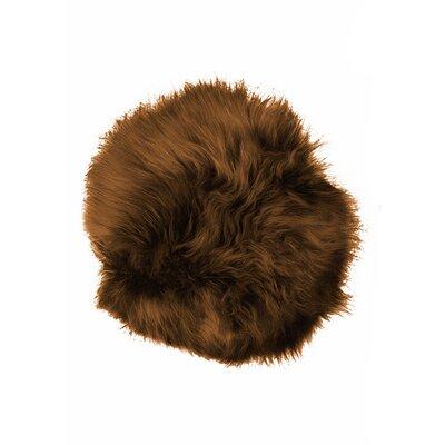 Sheepskin Dining Chair Cushion Fabric: Chestnut