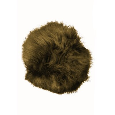 Sheepskin Dining Chair Cushion Fabric: Fox