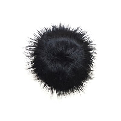 Sheepskin Dining Chair Cushion Fabric: Blacky Brown