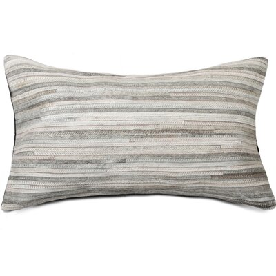Graham Leather Lumbar Pillow Color: Gray