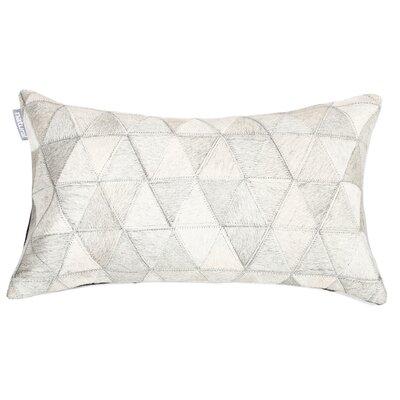 Graham Mosaik Leather Lumbar Pillow Color: White