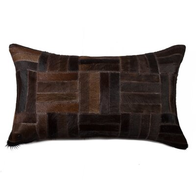Graham Parquet Leather Lumbar Pillow Color: Chocolate
