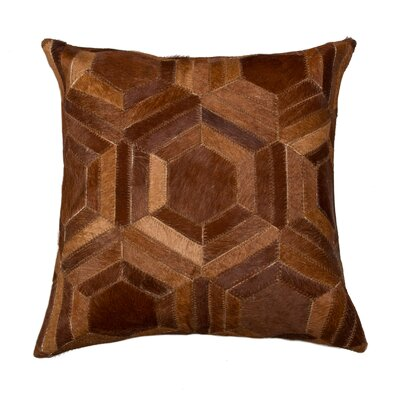 Graham Modern Hand Woven Cowhide Throw Pillow Color: Chocolate