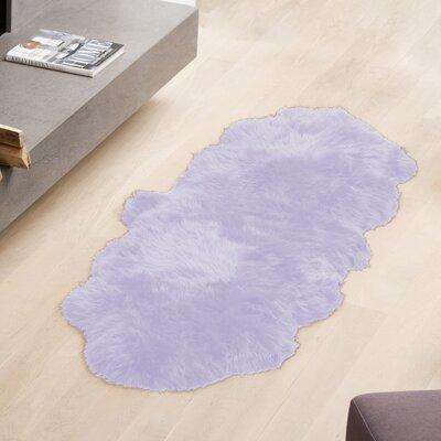 Cresley Hand-Woven Sheepskin Lavender Area Rug