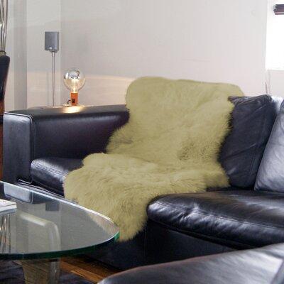 Portwood Hand-Woven Sheepskin Yellow Area Rug