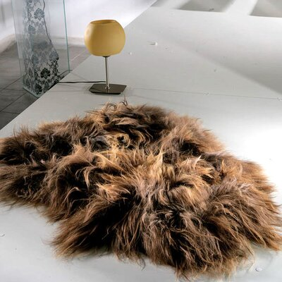 Dahlgreen Hand-Woven Sheepskin Rusty Brown Area Rug