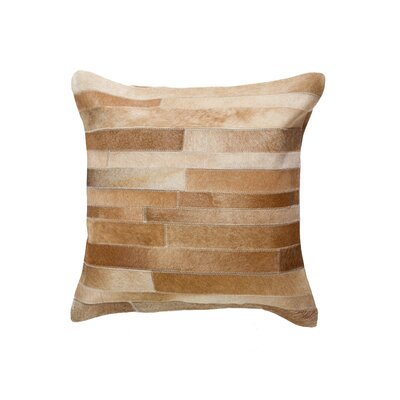 Graham Throw Pillow Color: Tan
