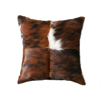 Commodore-Singh Leather Throw Pillow