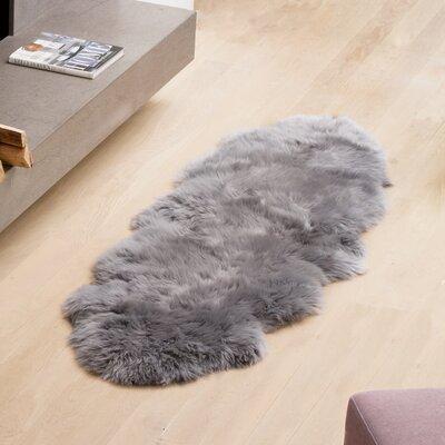 Handmade Grey Area Rug Rug Size: Runner 2 x 6