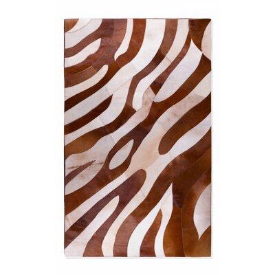 Brown/White Safari Area Rug Rug Size: 8 x 10