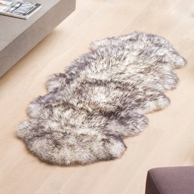Handmade Gradient Grey Area Rug Rug Size: Runner 2 x 6