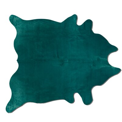 Rondon Hand Woven Cowhide Verde Area Rug