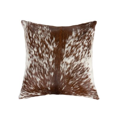 Torino Leather Throw Pillow Color: S&P/Brown/White
