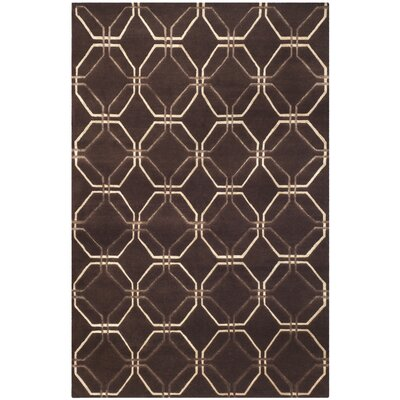 Brown Geometric Rug Rug Size: 9 x 12