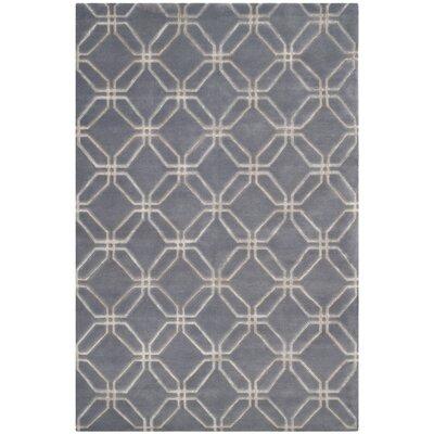 Slate Geometric Rug Rug Size: Rectangle 8 x 10