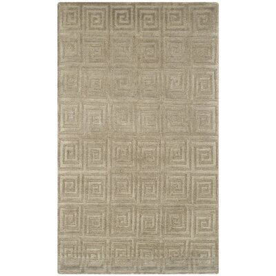 Greek Key Wool Olive Area Rug Rug Size: Rectangle 4 x 6