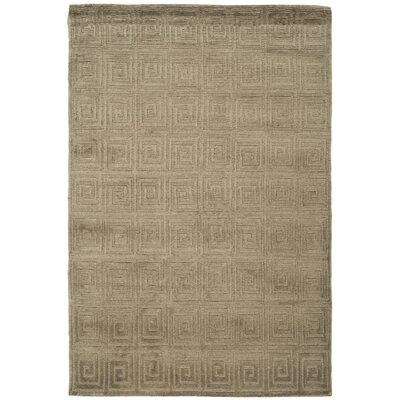 Greek Key Wool Olive Area Rug Rug Size: Rectangle 6 x 9