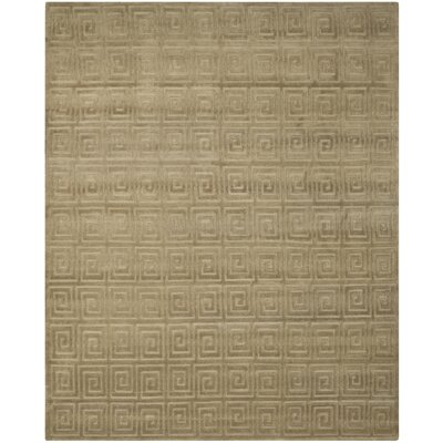 Greek Key Wool Olive Area Rug Rug Size: Rectangle 9 x 12