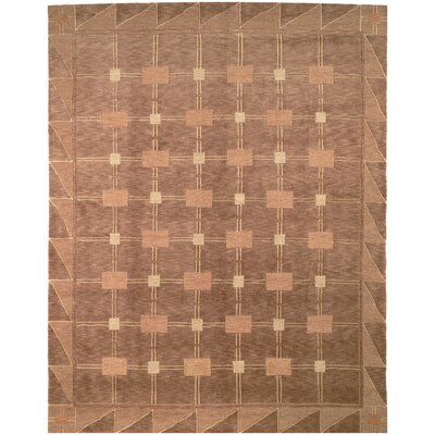 Wool Brown Area Rug Rug Size: Rectangle 6 x 9