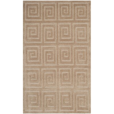 Greek Key Camel Area Rug Rug Size: 4 x 6