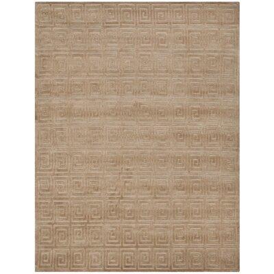 Greek Key Camel Area Rug Rug Size: 6 x 9