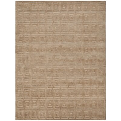Greek Key Camel Area Rug Rug Size: 8 x 10