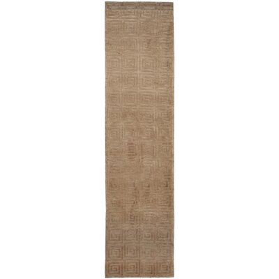 Greek Key Wool Camel Area Rug Rug Size: Rectangle 4 x 6