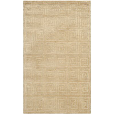 Greek Key Wool Ivory Area Rug Rug Size: Rectangle 4 x 6