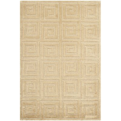 Greek Key Ivory Area Rug Rug Size: 6 x 9