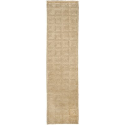 Greek Key Wool Ivory Area Rug Rug Size: Runner 26 x 10