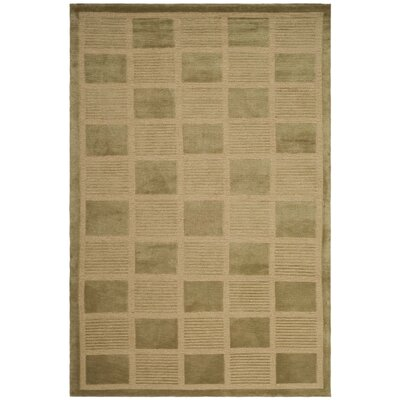 Strategy Wool Sage/Kiwi Area Rug Rug Size: Rectangle 4 x 6