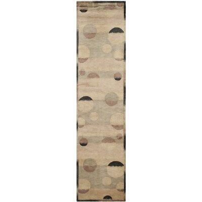 Luner Wool Beige Area Rug Rug Size: Runner 26 x 10