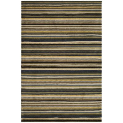 Wool Brown Area Rug Rug Size: Rectangle 4 x 6