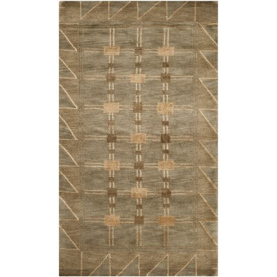Balance Wool Brown Area Rug Rug Size: Rectangle 4 x 6