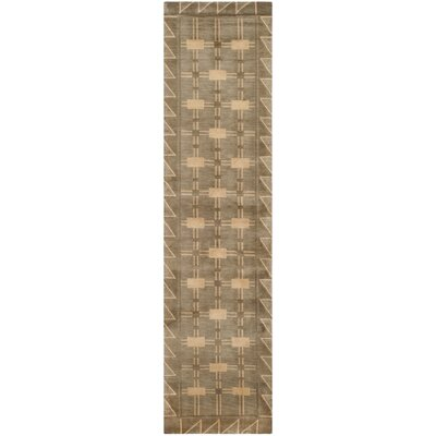 Balance Wool Brown Area Rug Rug Size: Runner 26 x 12