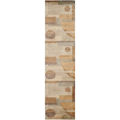 Odion Wool Beige Area Rug Rug Size: Runner 26 x 10
